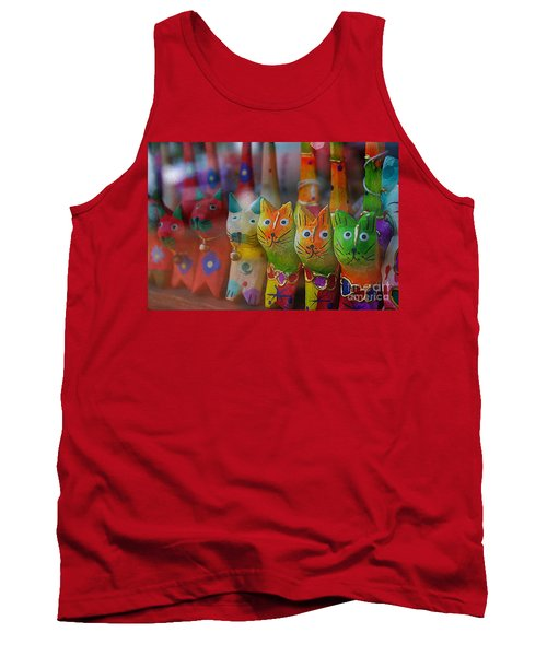 Tank Top featuring the photograph Kitty Kitty  by John S