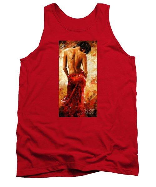 Lady In Red 27 Tank Top by Emerico Imre Toth