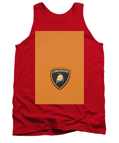 Lambo Hood Ornament Orange Tank Top