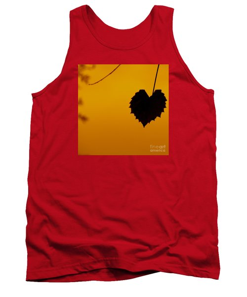 Tank Top featuring the photograph Last Leaf Silhouette by Joy Hardee