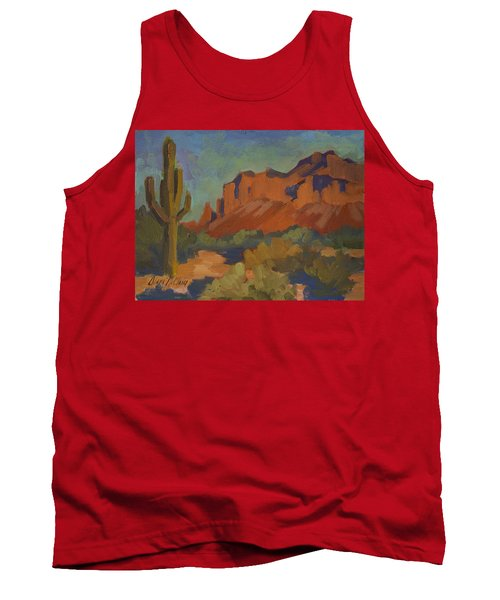 Late Afternoon Light At Superstition Mountain Tank Top