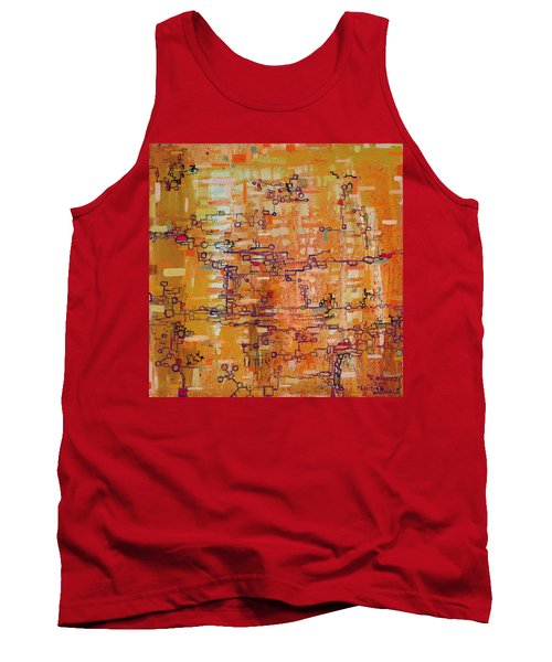 Lattice Animals Abstract Oil Painting By Regina Valluzzi Tank Top