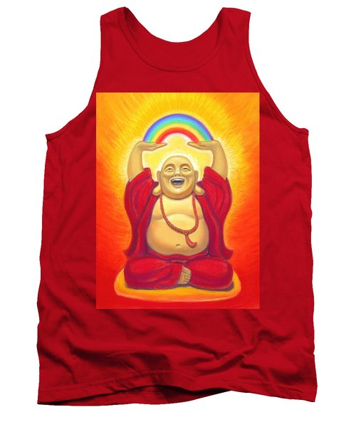 Laughing Rainbow Buddha Tank Top by Sue Halstenberg