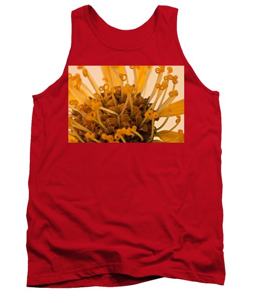Tank Top featuring the photograph Leopards Bane Flower Macro by Sandra Foster