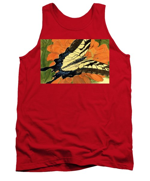 Tank Top featuring the painting Lepidoptery by Joel Deutsch
