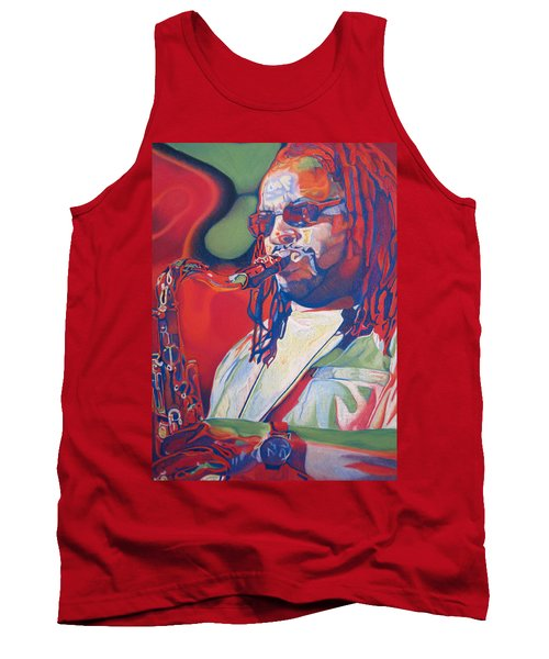 Leroi Moore Colorful Full Band Series Tank Top by Joshua Morton