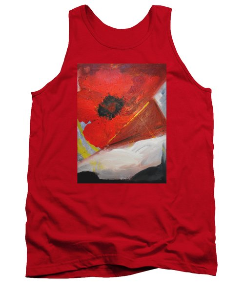 Tank Top featuring the painting Ode Of Remembrance by Evelina Popilian