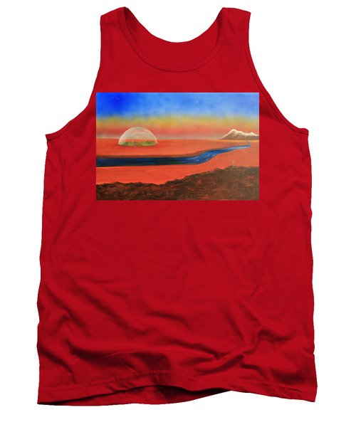Tank Top featuring the painting Life Will Find A Way by Tim Mullaney