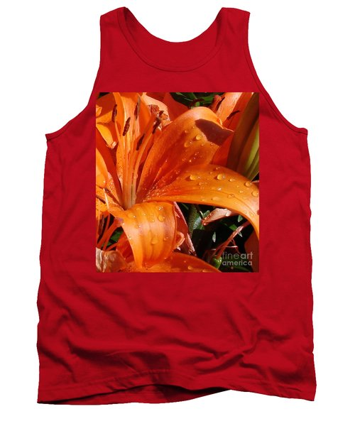 Tank Top featuring the photograph Lily Drops by Kerri Mortenson