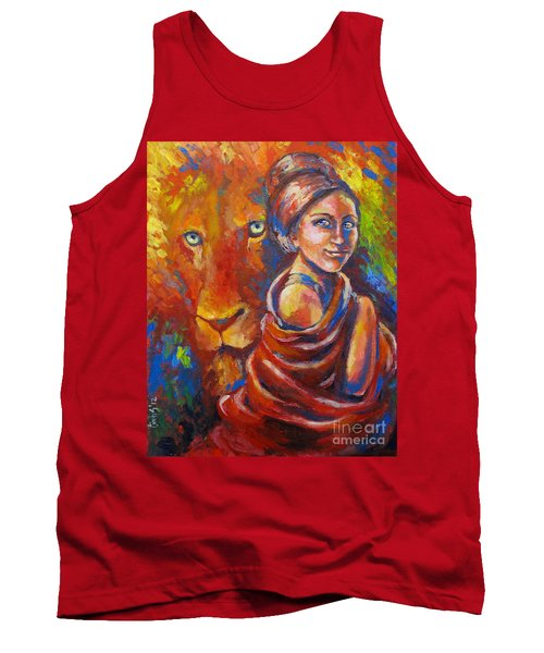 Lion Covering Tank Top