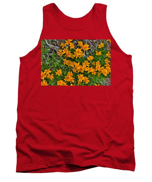 Tank Top featuring the photograph Little Sunflower In The Mountains by Janice Rae Pariza