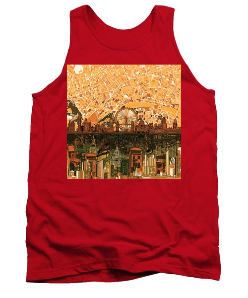 London Skyline Abstract 7 Tank Top