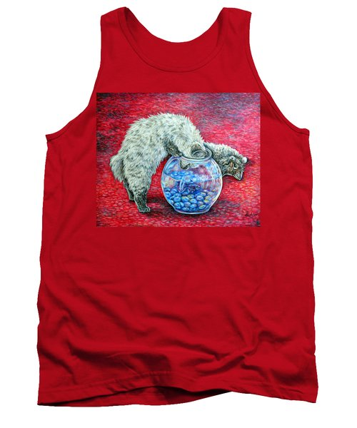 Lookin For Some Betta Kissin Tank Top by Gail Butler