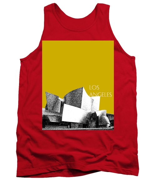 Los Angeles Skyline Disney Theater - Gold Tank Top