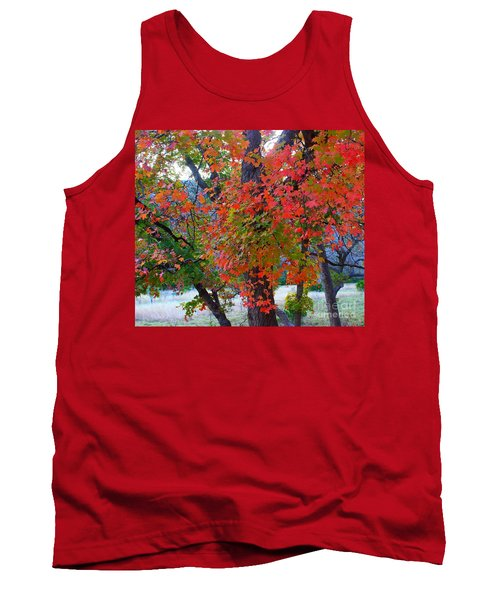 Lost Maples Fall Foliage Tank Top