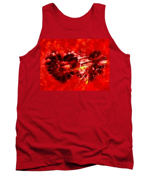 Tank Top featuring the photograph Love Opening by Kathy Bassett