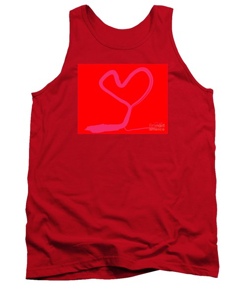 Tank Top featuring the painting Love Tree by Go Van Kampen