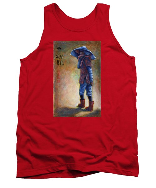 Lucky Red Boots Tank Top by Retta Stephenson