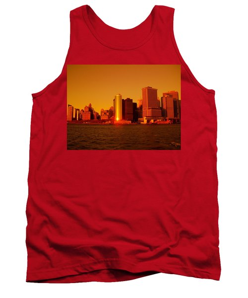 Manhattan Skyline At Sunset Tank Top