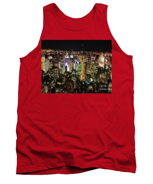 Tank Top featuring the photograph Manhattan Skyline Empire State Wobbles by Andy Prendy