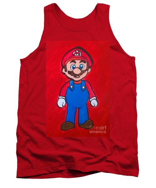 Tank Top featuring the painting Mario by Marisela Mungia