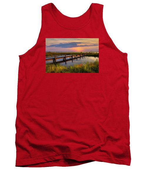 Marsh Harbor Tank Top by Debra and Dave Vanderlaan