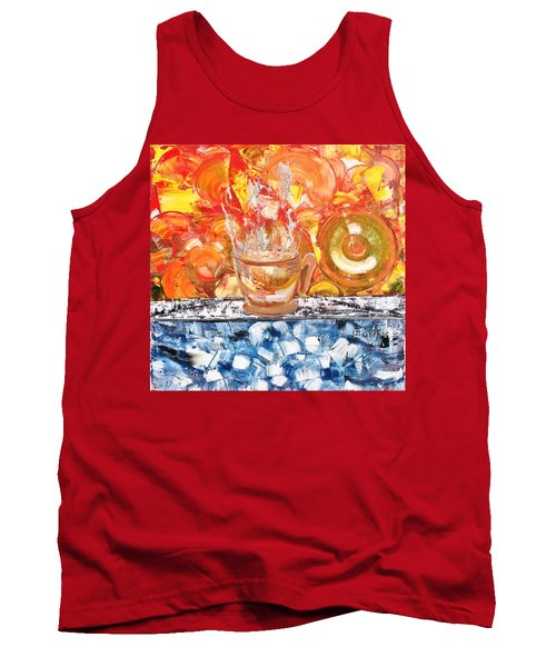 Tank Top featuring the painting Matinal by Evelina Popilian