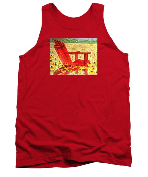 Tank Top featuring the painting Meet Me In The Meadow by Angela Davies