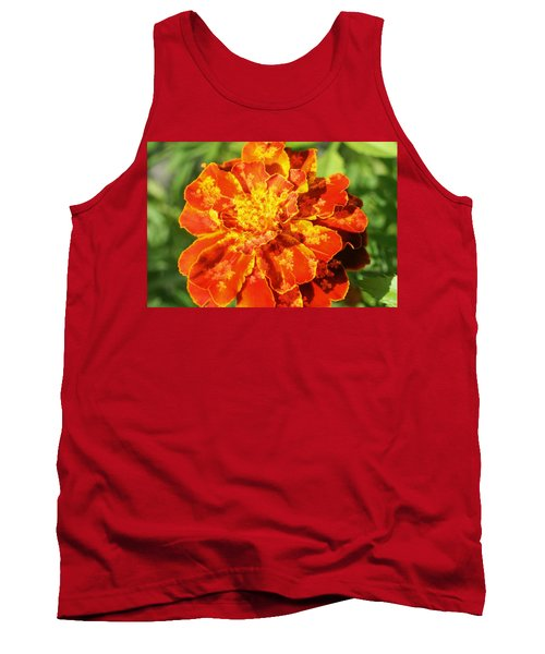 Merry Marigold Tank Top by Barbara S Nickerson
