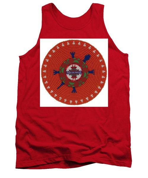 Meskwaki Orange Tank Top