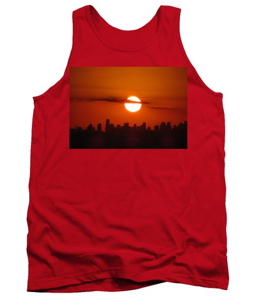 Tank Top featuring the photograph Miami Sunset by Jennifer Wheatley Wolf
