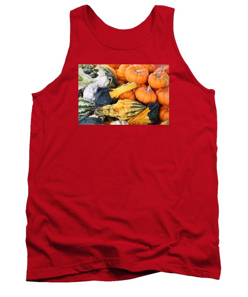 Tank Top featuring the photograph Mini Pumpkins And Gourds by Cynthia Guinn