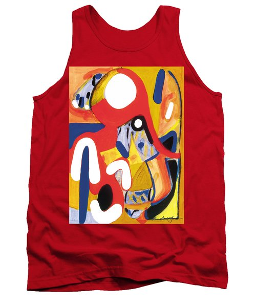 Tank Top featuring the painting Mirror Of Me 2 by Stephen Lucas