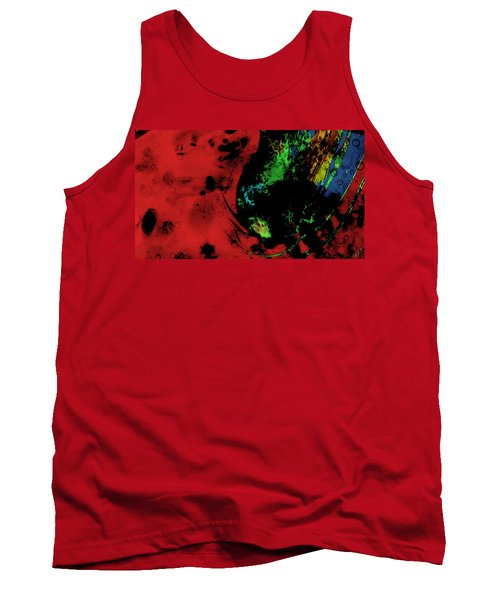 Tank Top featuring the mixed media Modern Squid by Ally  White