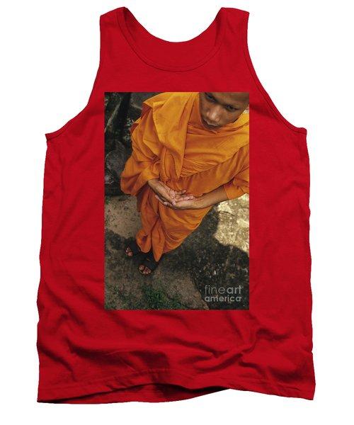 Monk In Saffron Robes Cambodia Tank Top