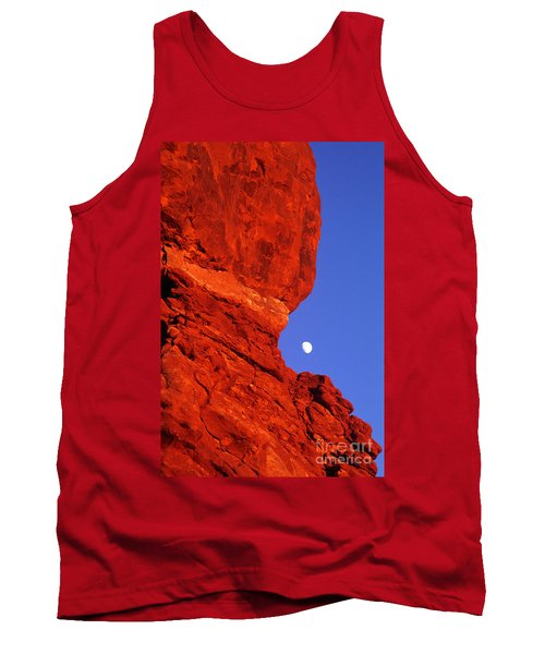 Tank Top featuring the photograph Moonrise Balanced Rock Arches National Park Utah by Dave Welling
