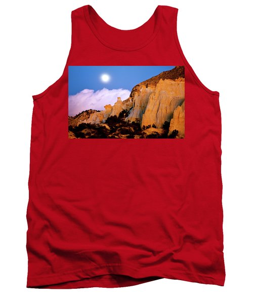 Moonrise Over The Kaiparowits Plateau Utah Tank Top by Ed  Riche