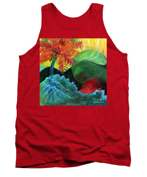 Tank Top featuring the painting Moonstorm by Elizabeth Fontaine-Barr