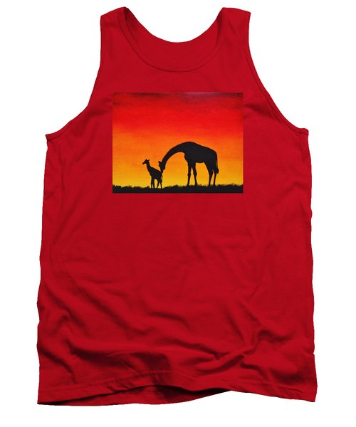 Tank Top featuring the painting Mother Africa 2 by Michael Cross
