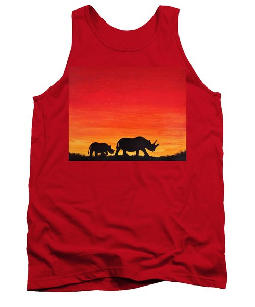 Tank Top featuring the painting Mother Africa 5 by Michael Cross
