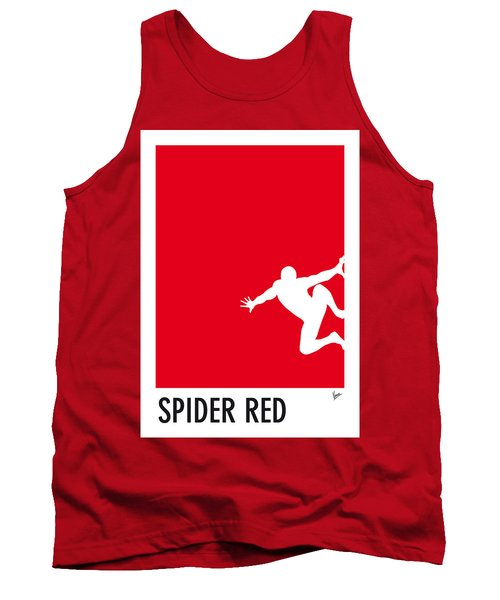 My Superhero 04 Spider Red Minimal Poster Tank Top