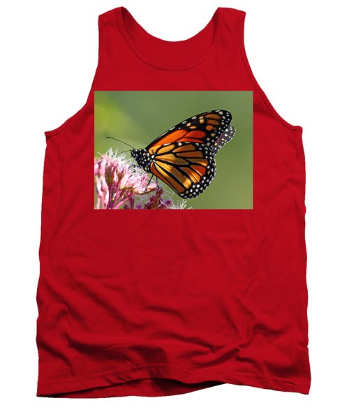 Nectaring Monarch Butterfly Tank Top by Debbie Oppermann