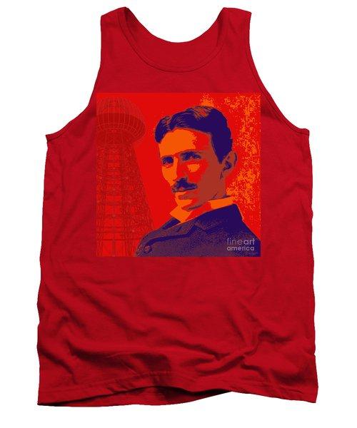 Nikola Tesla #1 Tank Top by Jean luc Comperat