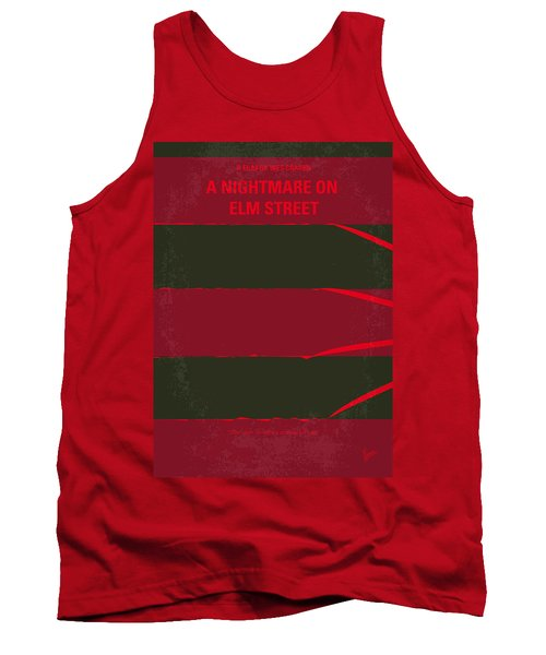 No265 My Nightmare On Elmstreet Minimal Movie Poster Tank Top by Chungkong Art