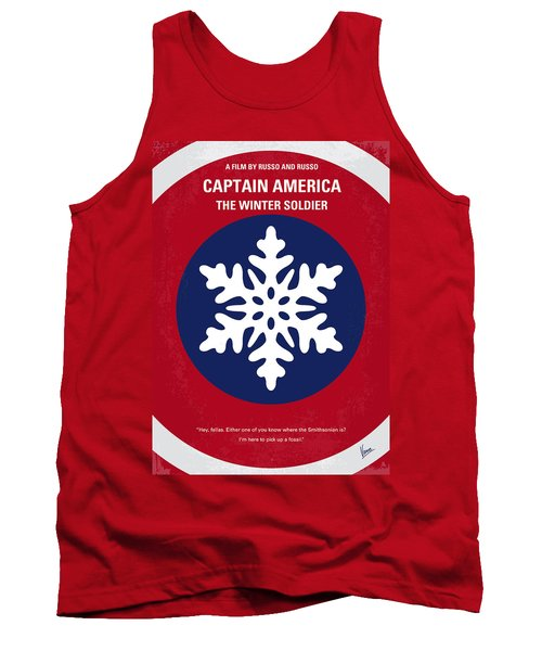 No329 My Captain America - 2 Minimal Movie Poster Tank Top