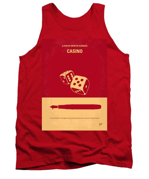 No348 My Casino Minimal Movie Poster Tank Top