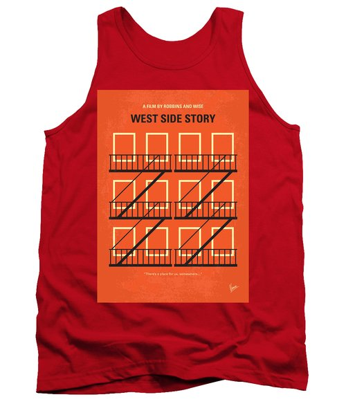 No387 My West Side Story Minimal Movie Poster Tank Top