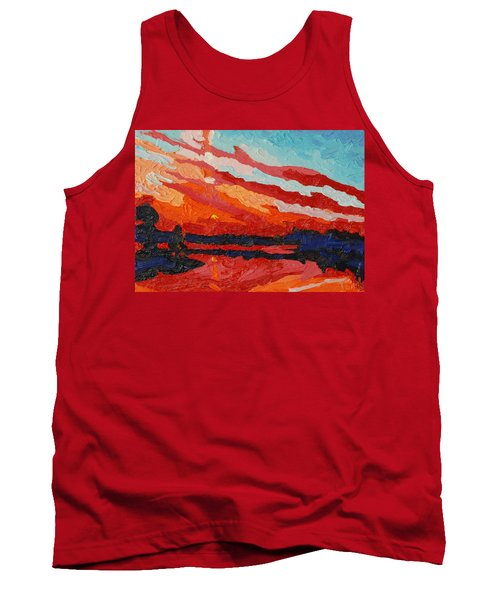 November Sunset Tank Top by Phil Chadwick