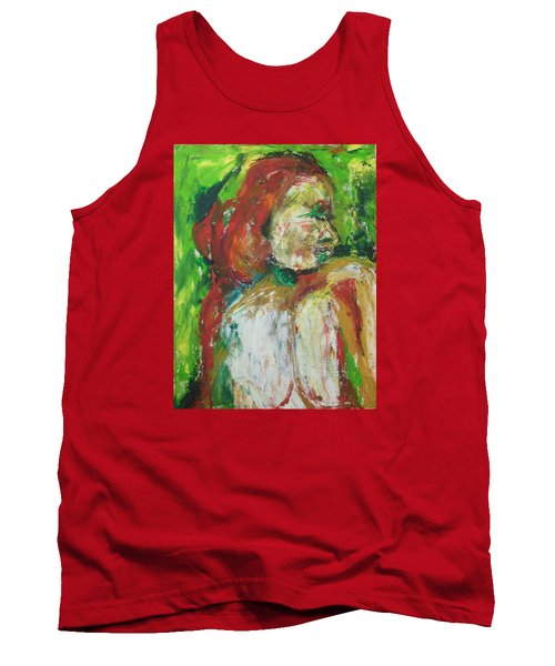 Tank Top featuring the painting Thinking Of You by Esther Newman-Cohen