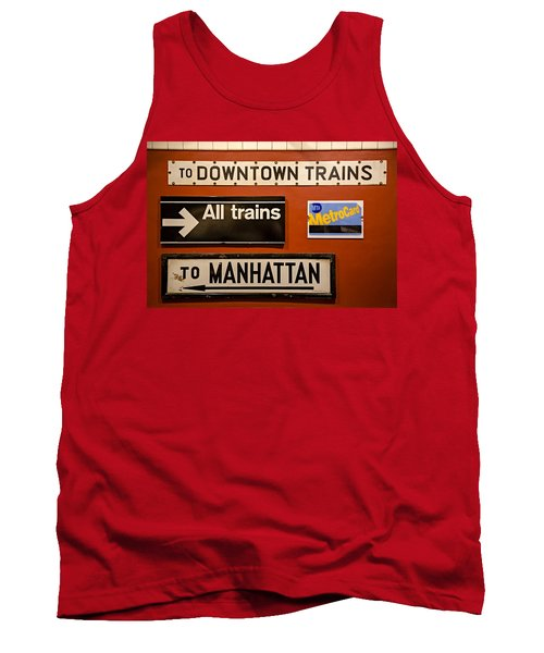 Nyc Subway Signs Tank Top